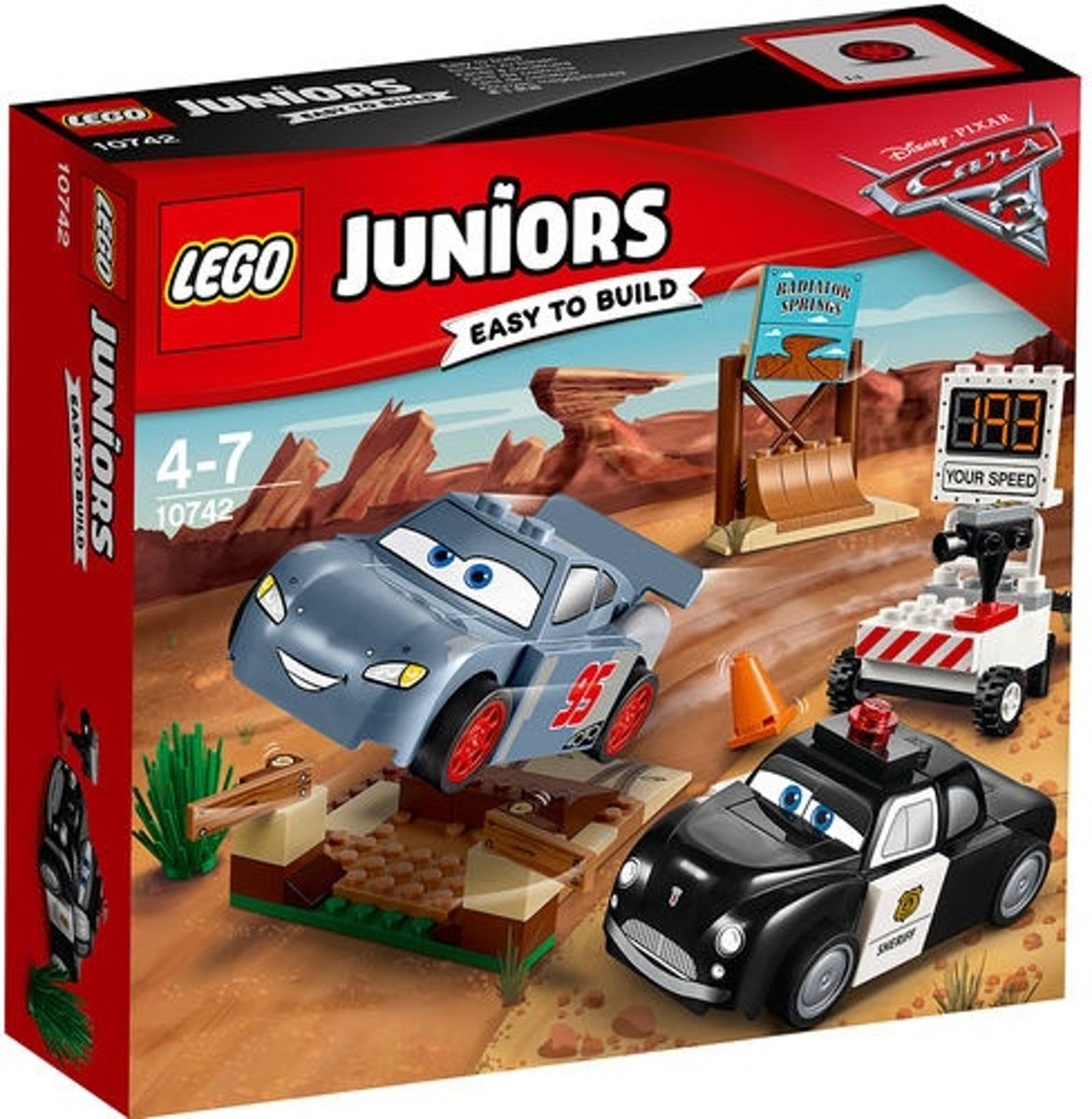 Lego Juniors: Disney Cars 3 Willys Butte Snelheidstraining (10742)