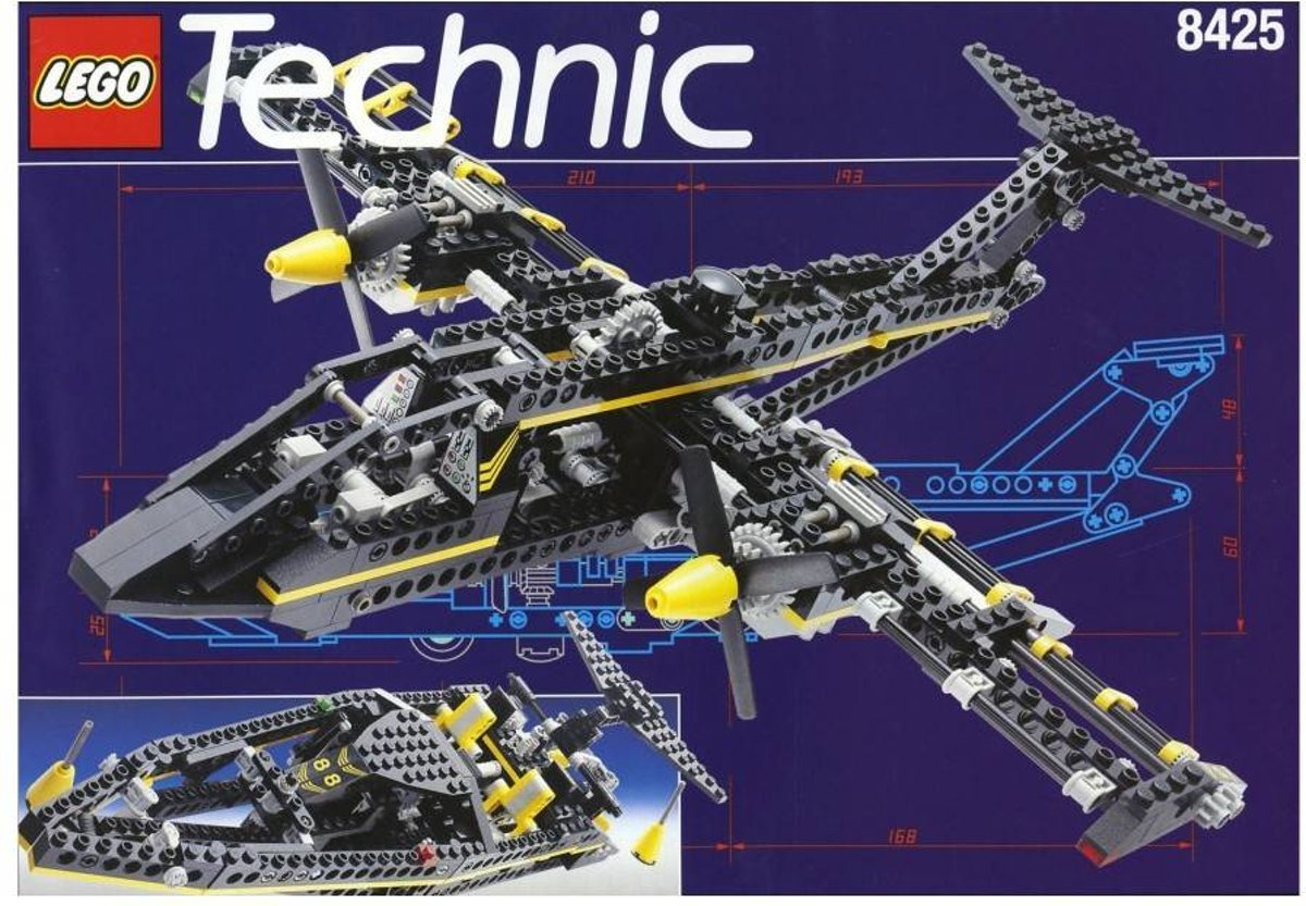 Lego Technic Black Hawk Aircraft & Speedboat 8425