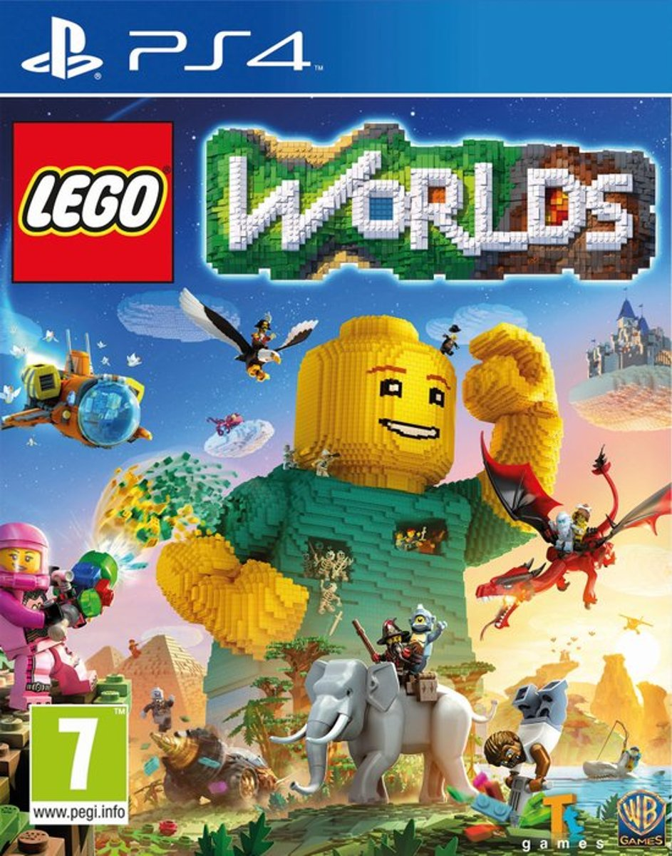 PS4 LEGO WORLDS (PS4 EXCLUSIVE: LEGO AGENTS PACK) (EU)