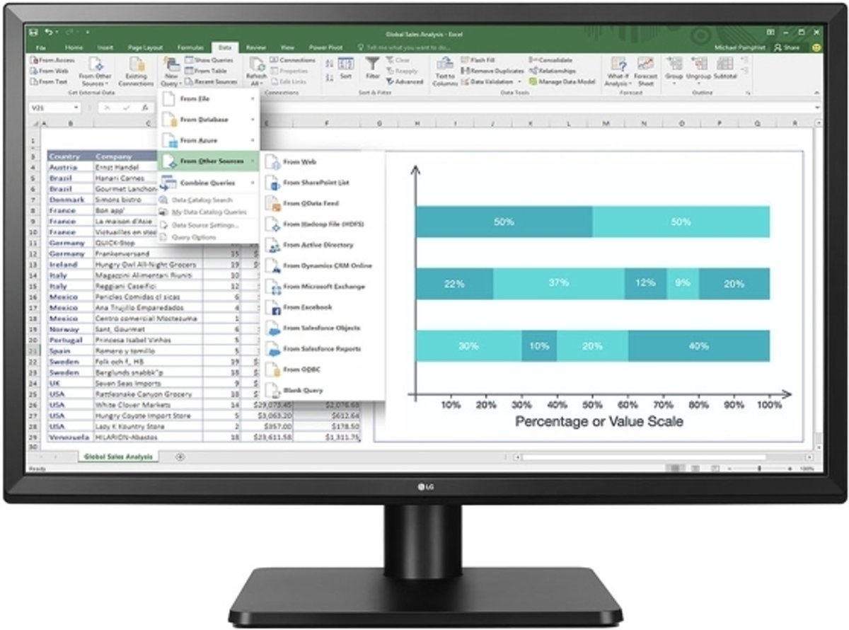 27QD58P-B computer monitor 68,6 cm (27) Wide Quad HD LED Flat Zwart