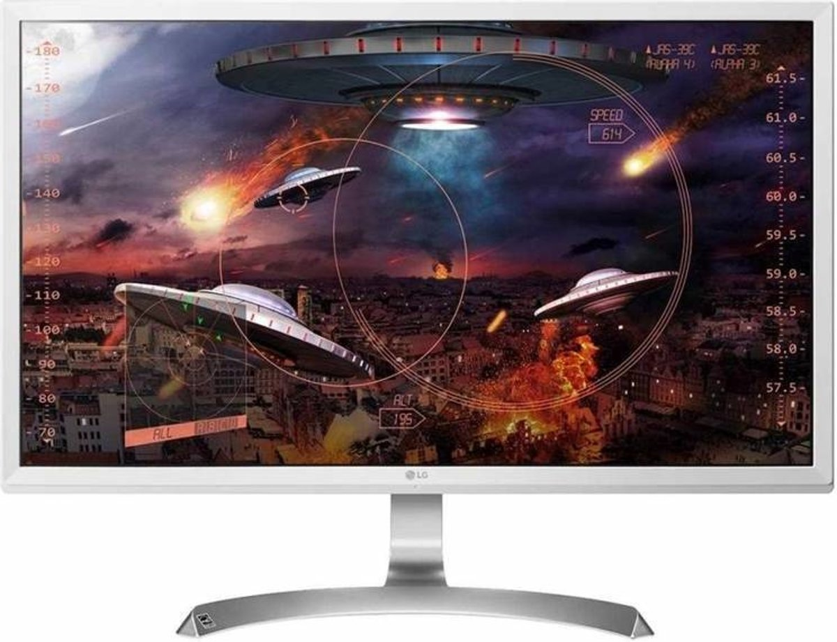 LG 27UD59-W 27 4K Ultra HD IPS Zilver, Wit computer monitor LED display