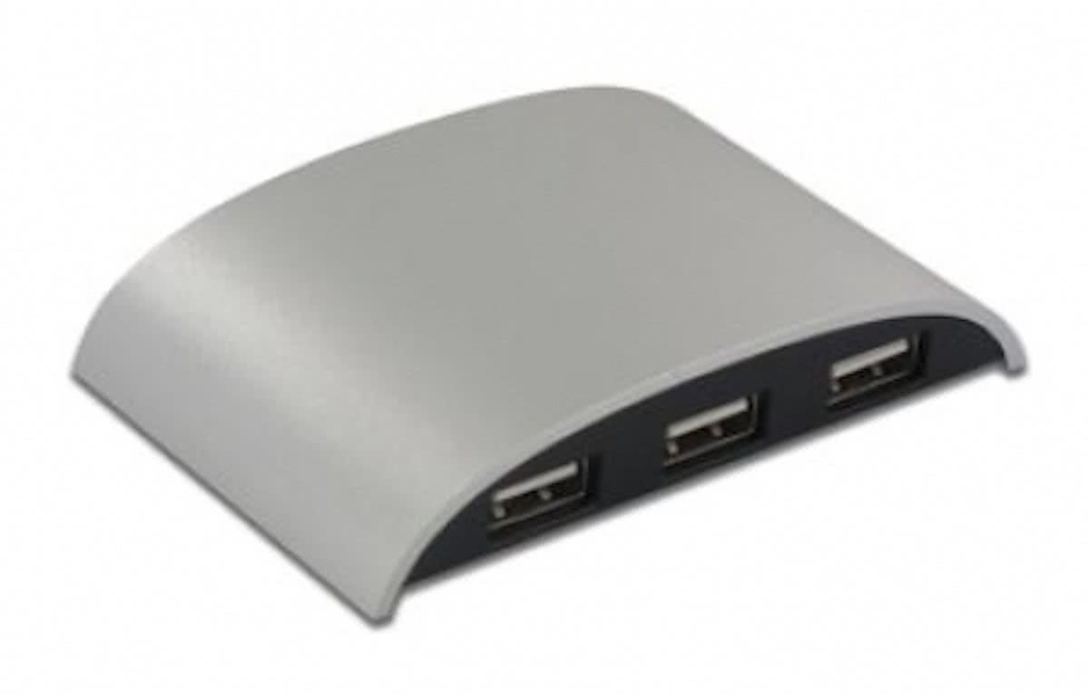 LMP iHub 3.0, 4 Port USB 3.0 Hub, LED, Alu-design, incl. power adaptor 5V/4A,
