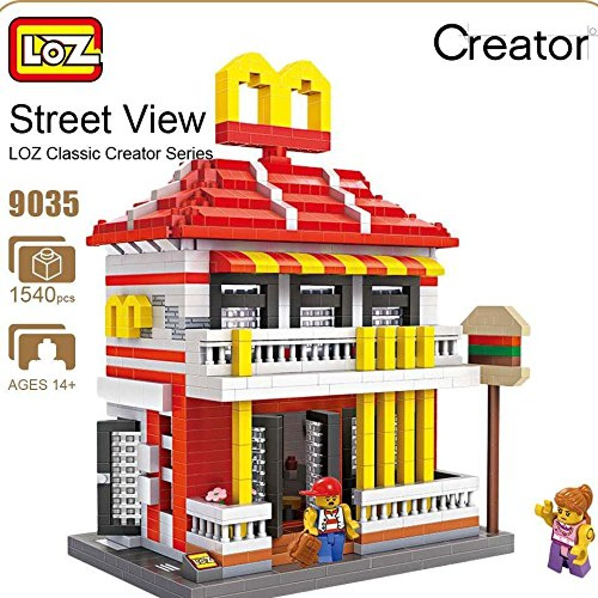 LOZ Mini Block Street View Series Fast Food Store - 9035