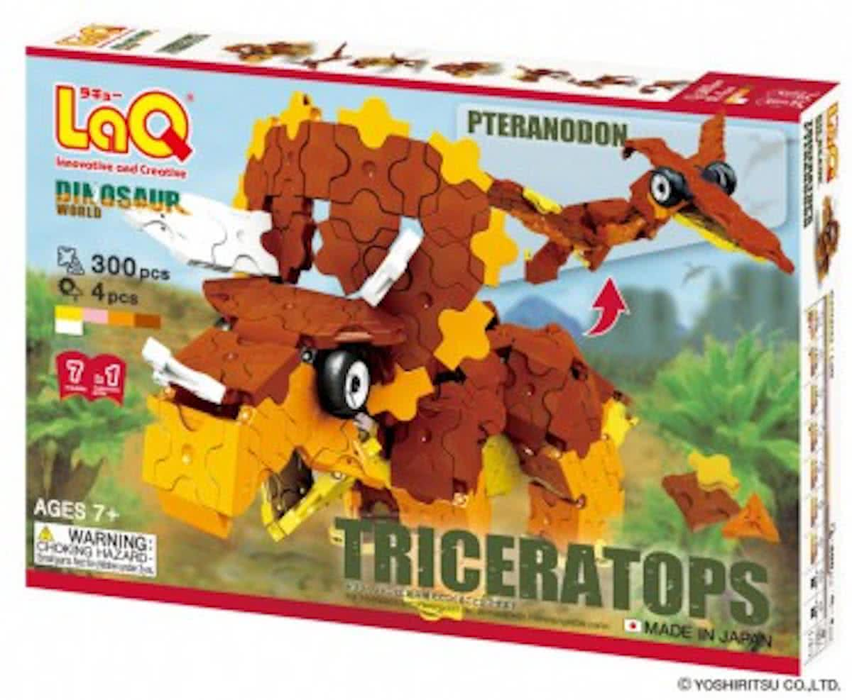LaQ Dinosaur World Triceratops and Pteranodon