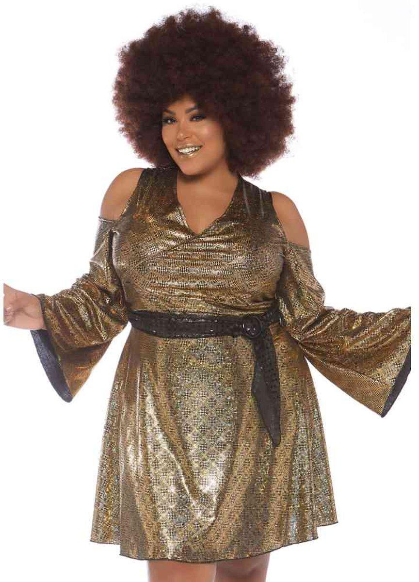 c8832dad20c260 Disco Doll plus size dames kostuum ...