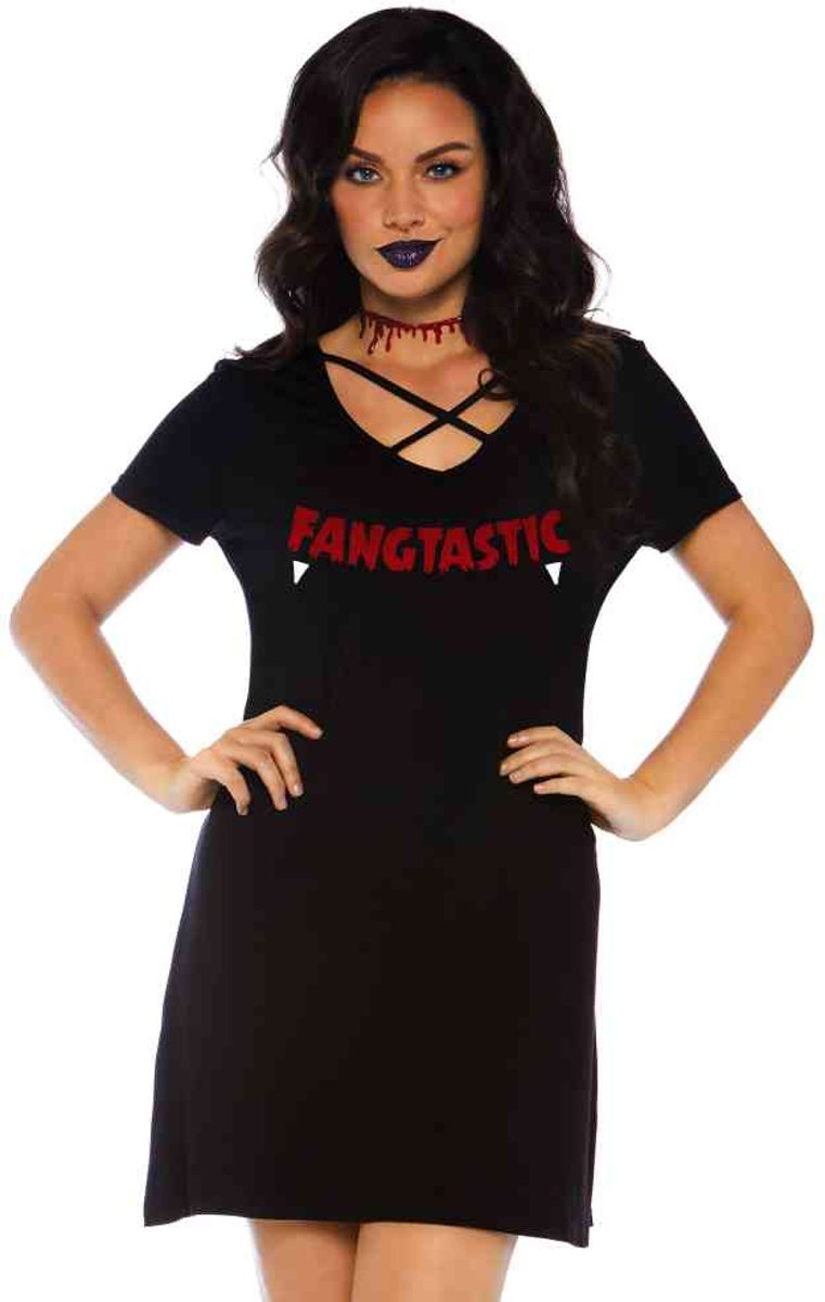 6cdc2b1290bb97 Fangtastic jersey jurk ...