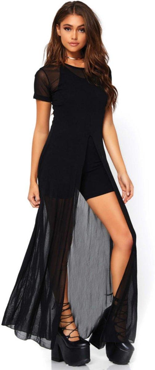 7000b59270dd1f Transparante mesh jurk ...