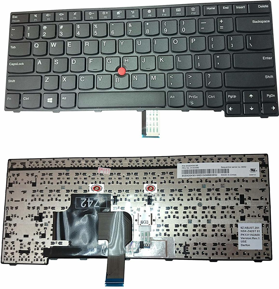 ThinkPad E470 black US Laptop Keyboard