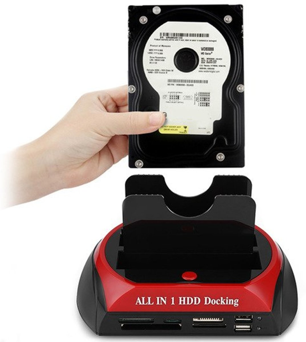 All in one SATA & IDE HDD dock kaartlezer 2.5/3.5 -  Levay ®