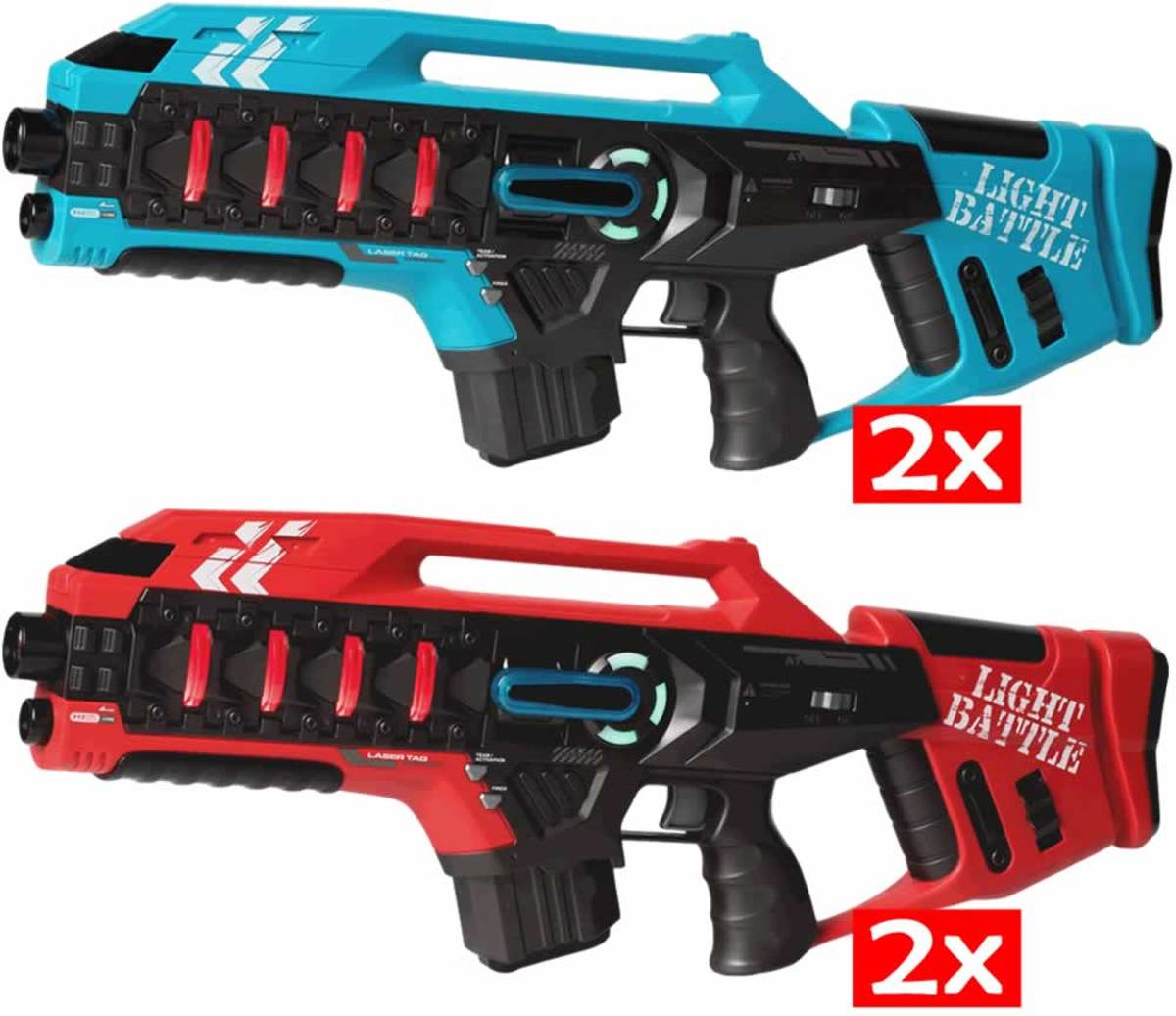 4   Active Anti-Cheat lasergame geweren - rood en blauw