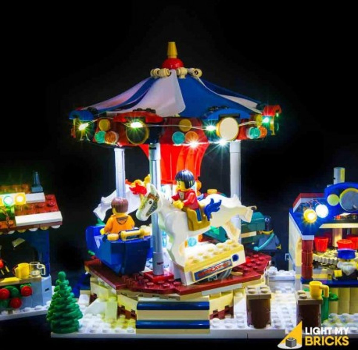 Light My Bricks LEGO Winter Village Market 10235 Verlichtings Set