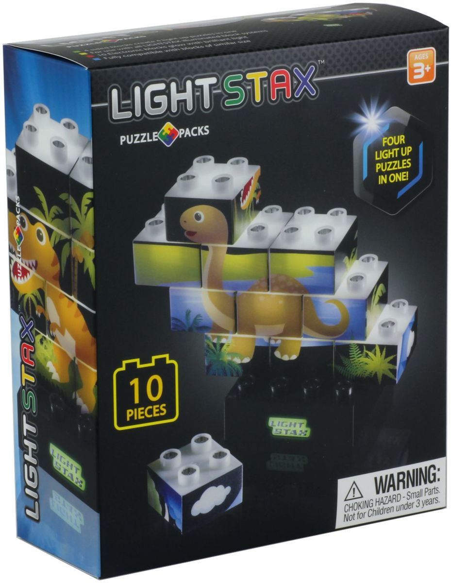 LIGHT STAX Junior Puzzel (Dinosaurus Editie)