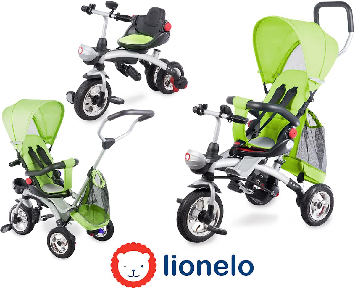 Lionelo Tim Plus - multifunctionele 3 in 1 driewieler Groen