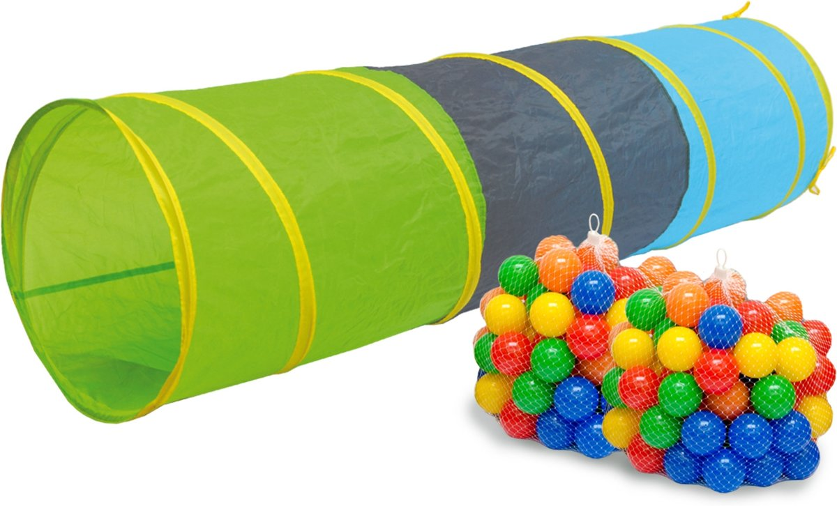 Speeltunnel 200 ballen kruiptunnel 180x46cm kruiptunnel kindertunnel tent tunnel