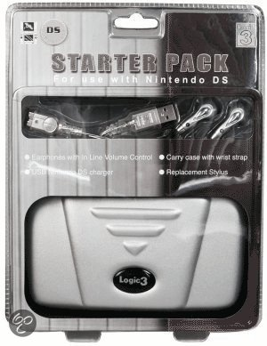 Logic 3, Starter Pack Nds (protection Eva Case, Usb Charging Cable, Replacement Stylus & Earphones)