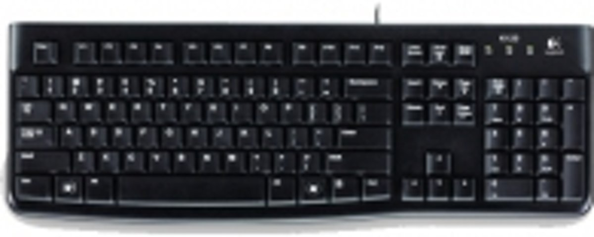K120, US USB QWERTY Internationaal EER Zwart