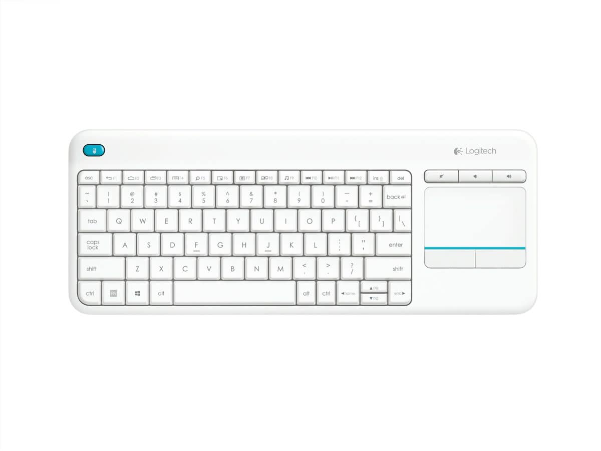 K400 Plus - Draadloos Touch Toetsenbord - Qwerty - Wit