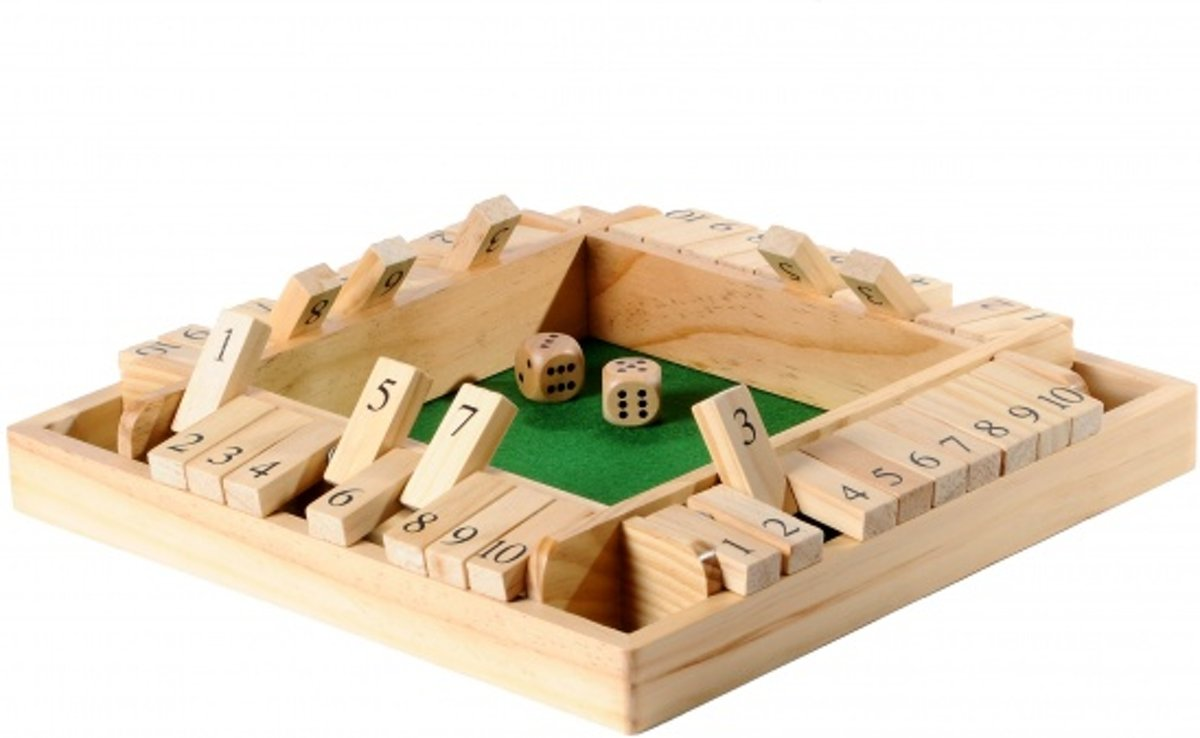 Longfield Games Shut The Box 4-spelers Dennenhout