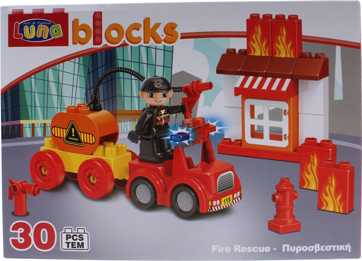 Luna Blocks Bouwset Fire Rescue 30-delig