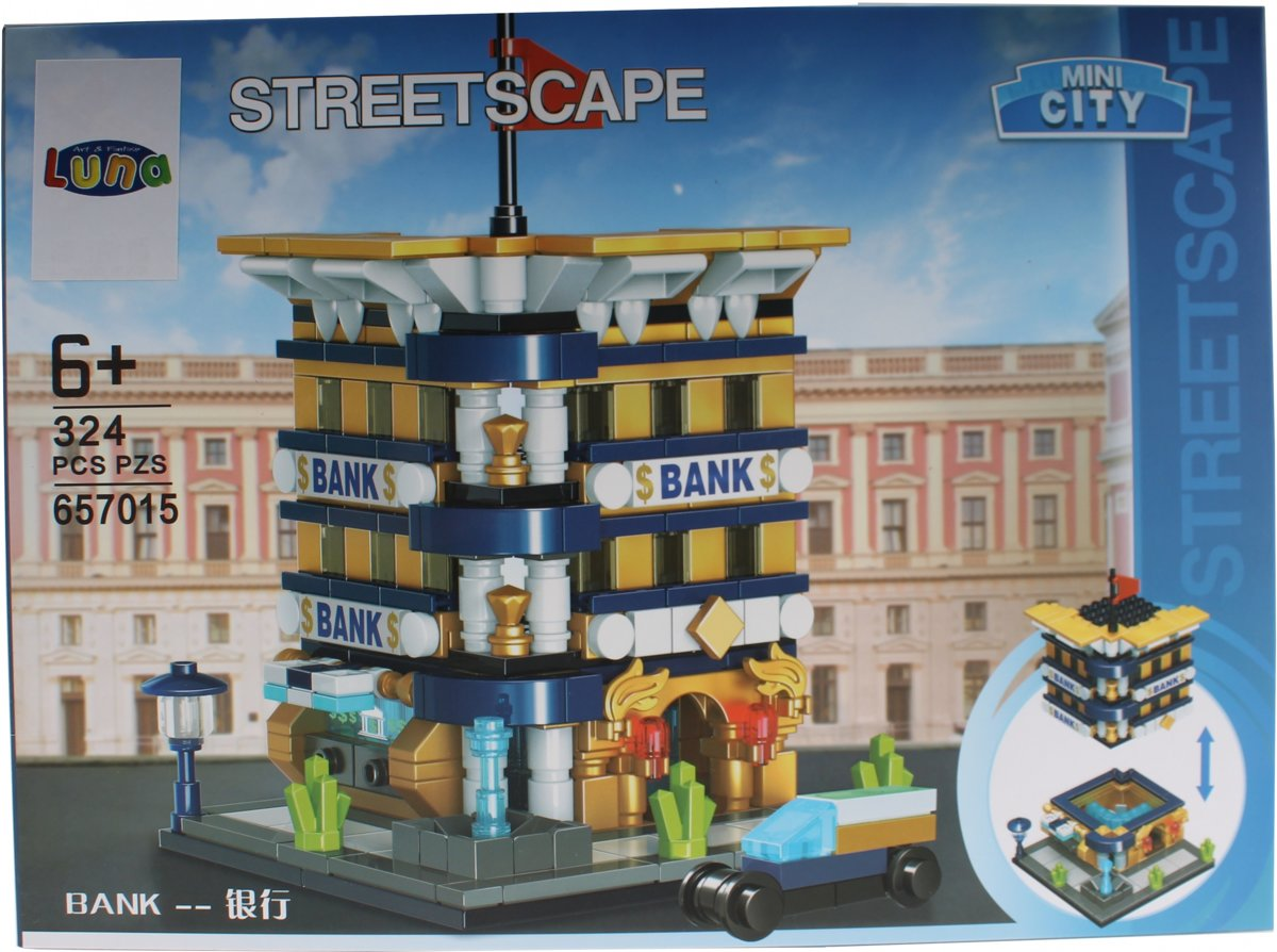Luna Mini City Streetscape Bank Bouwset 324-delig (657015)