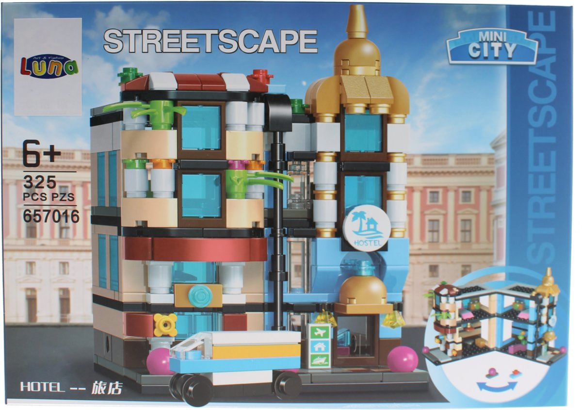 Luna Mini City Streetscape Hotel Bouwset 325-delig (657016)