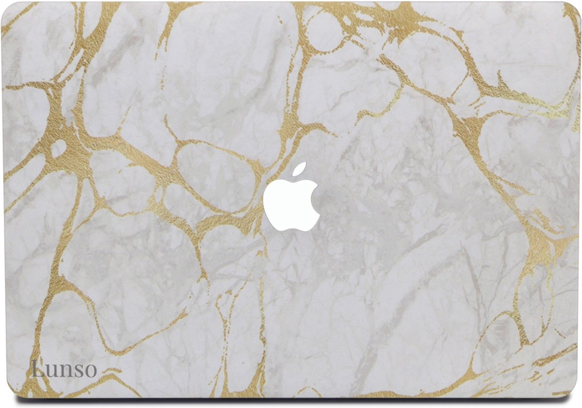 Lunso - cover hoes - MacBook Air 13 inch (2012-2017) - Marble Stella