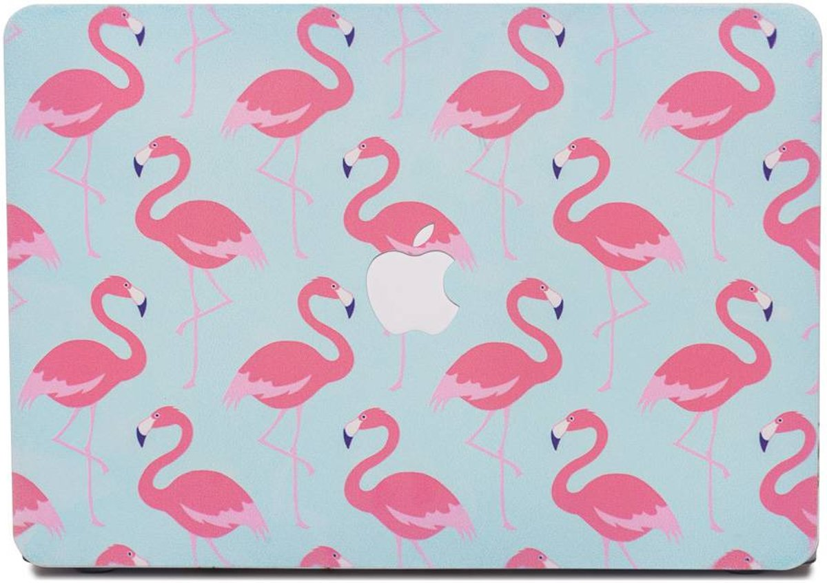 Lunso - cover hoes - MacBook Pro 13 inch (2016-2018) - Flamingo blauw