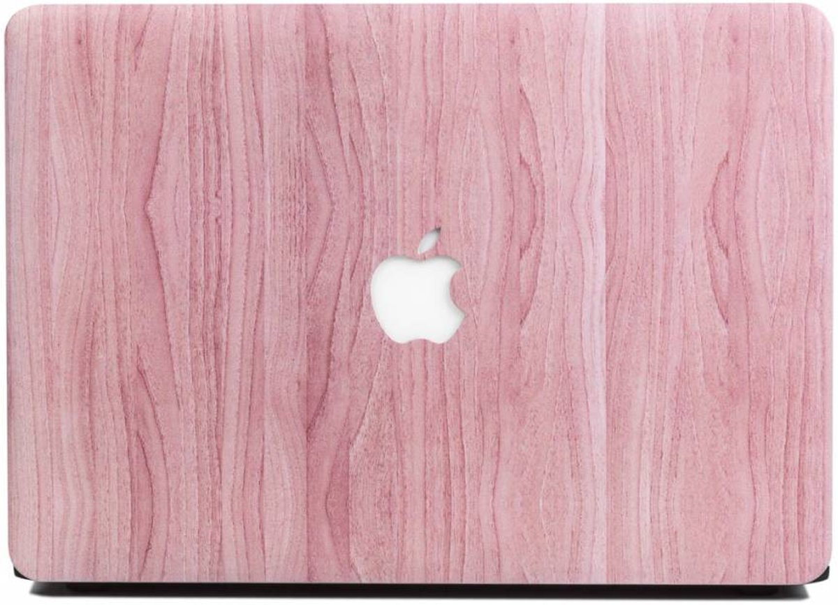 Lunso - cover hoes - MacBook Pro 15 inch (2016-2018) - houtlook roze