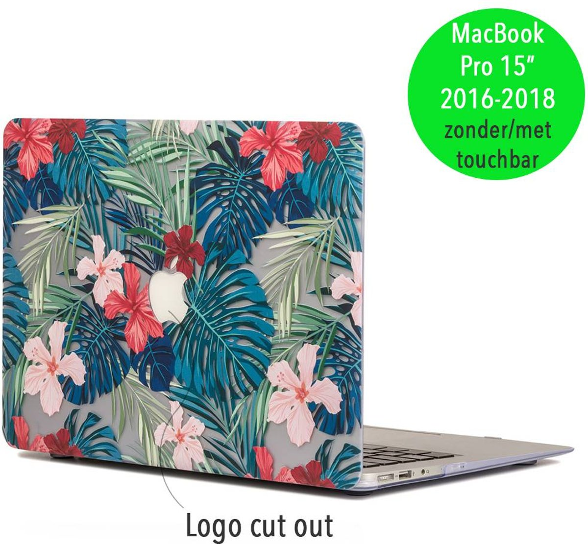 Lunso - palmboom bladeren hardcase hoes - MacBook Pro Retina 15 inch (2016-2018) - rood