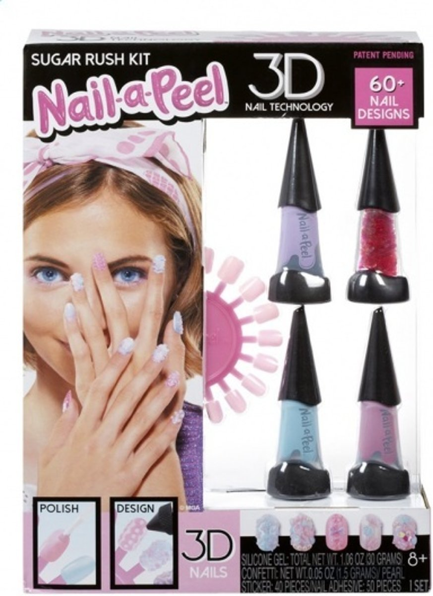 Mga Nagelset Nail-a-peel Deluxe 47-delig Paars/blauw