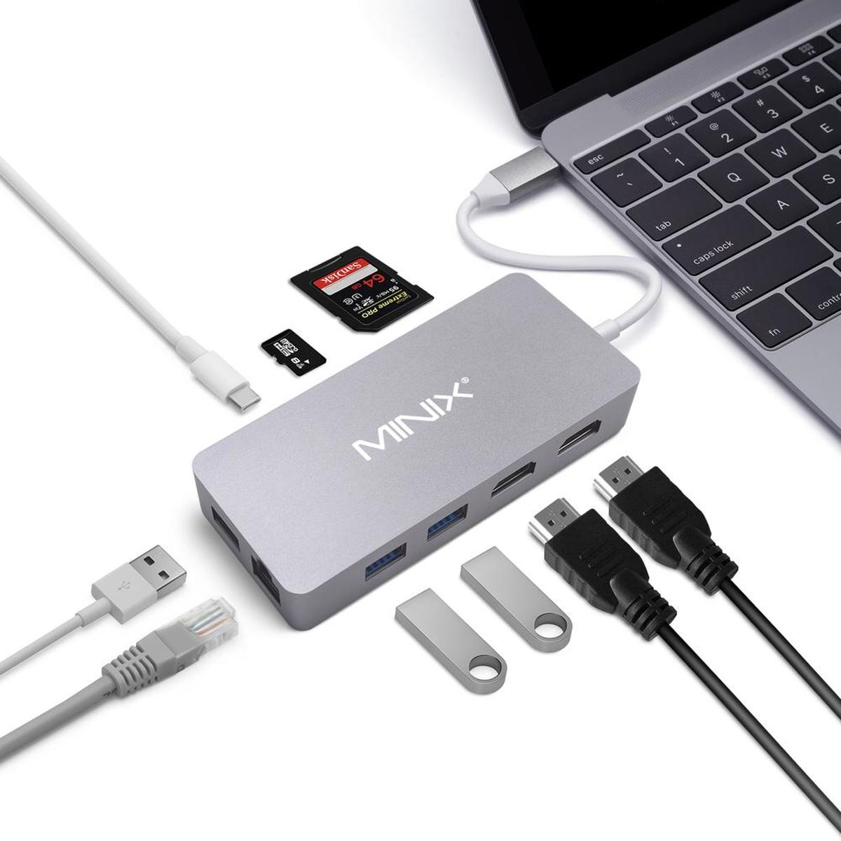 NEO C PLUS USB-C Multiport adapter voor Apple MacBook