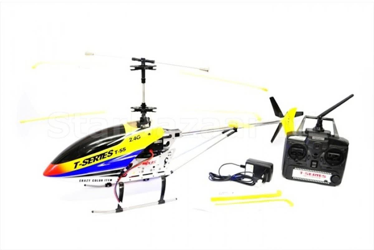 T55 Thunderbird 2.4Ghz 3CH Helicopter & Camera Ready Geel