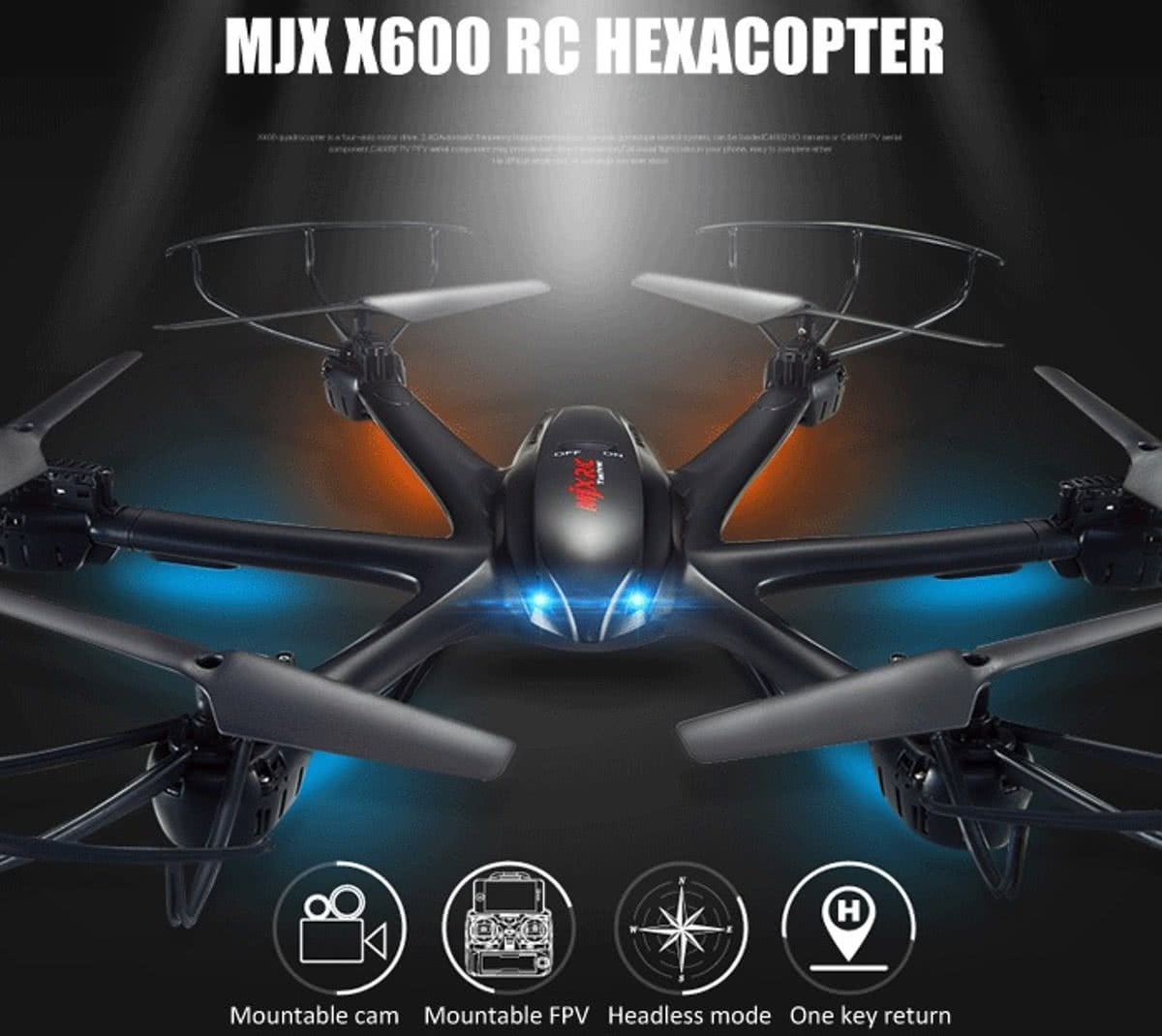 MJX X600 2.4gHz Drone Hexacopter