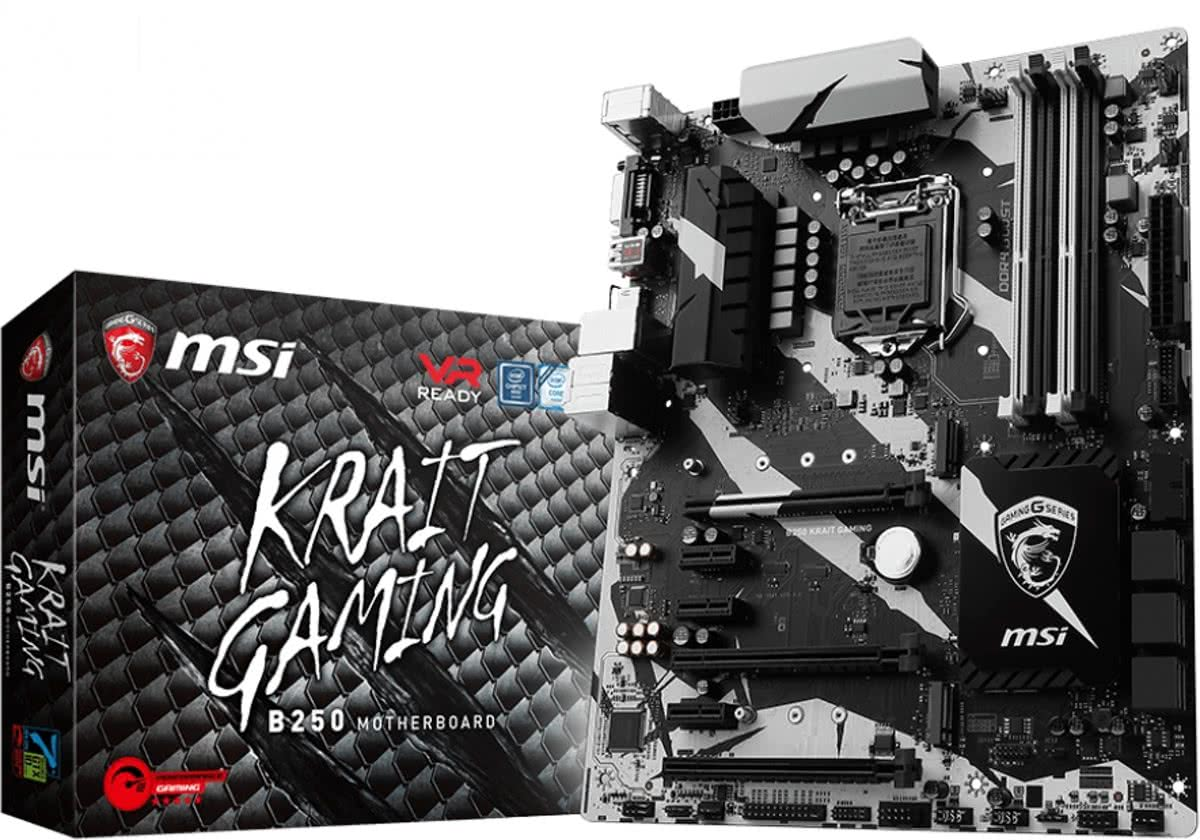 B250 KRAIT GAMING Intel B250 LGA 1151 (Socket H4) ATX moederbord