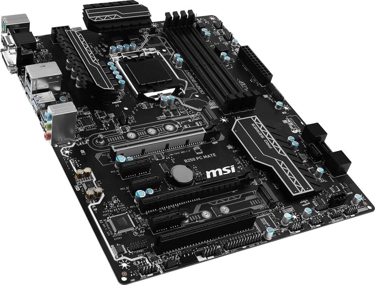 B250 PC MATE Intel B250 LGA 1151 (Socket H4) ATX moederbord