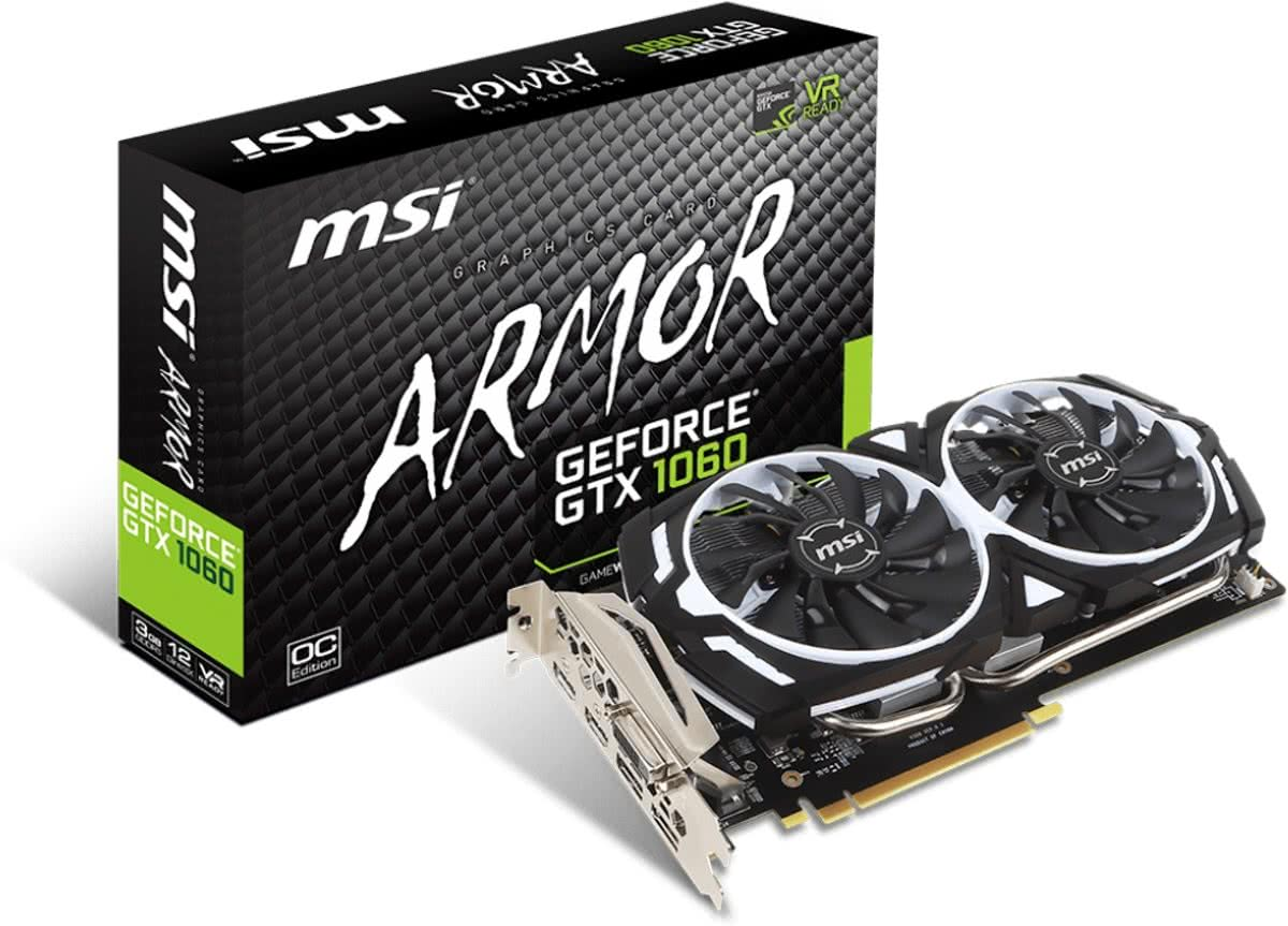 GeForce GTX 1060 ARMOR 3G OCV1 GeForce GTX 1060 3GB GDDR5