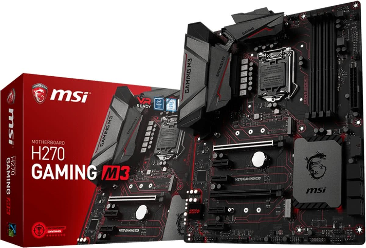 H270 GAMING M3 Intel H270 LGA 1151 (Socket H4) ATX moederbord