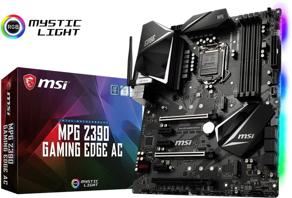 MPG Z390 GAMING EDGE AC LGA 1151 (Socket H4) Intel Z390 ATX