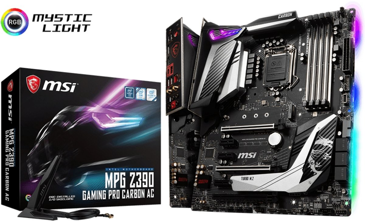 MPG Z390 GAMING PRO CARBON AC LGA 1151 (Socket H4) Intel Z390 ATX