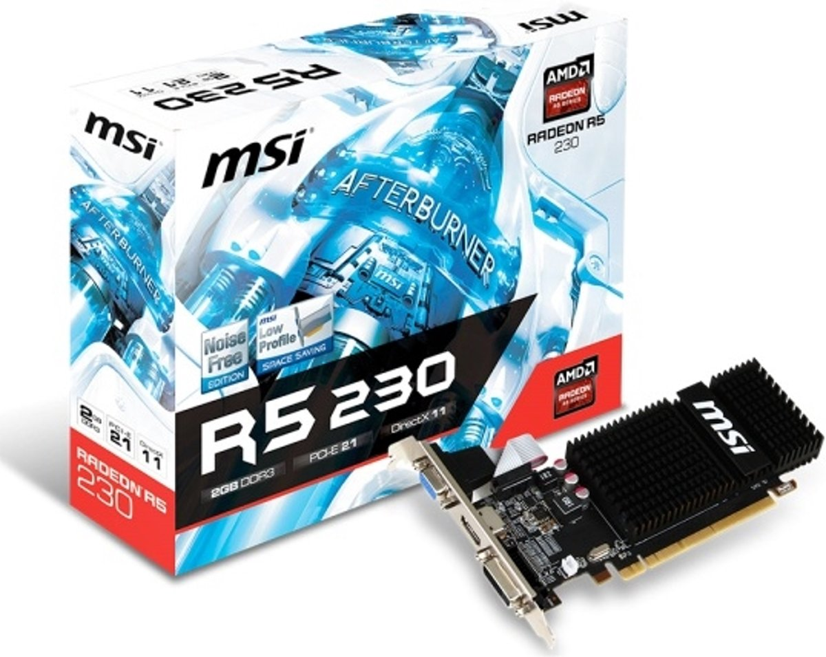 R5 230 2GD3H LP Radeon R5 230 2 GB GDDR3