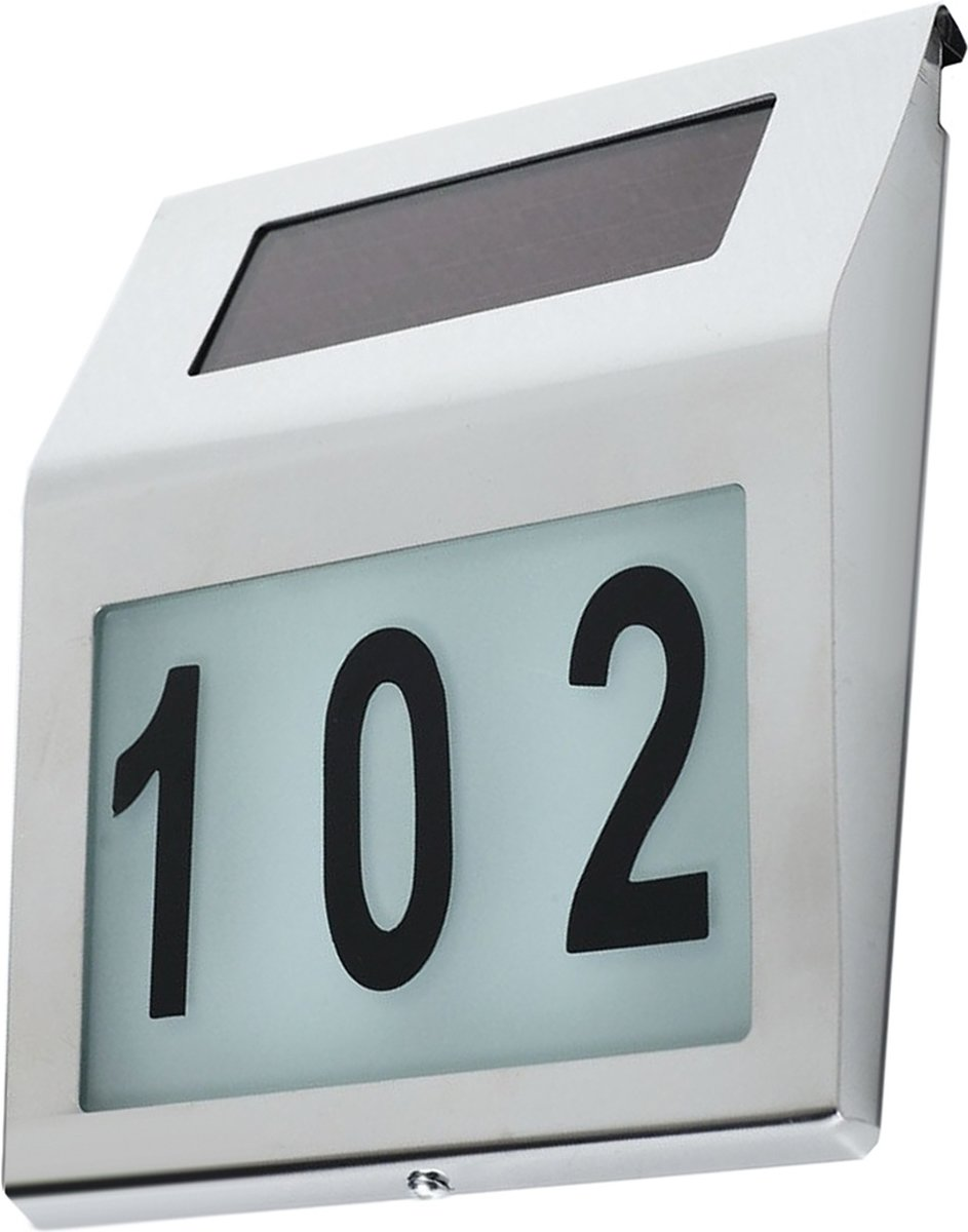Solar Huisnummer Tau op zonne energie inclusief nummers - 8719699963788
