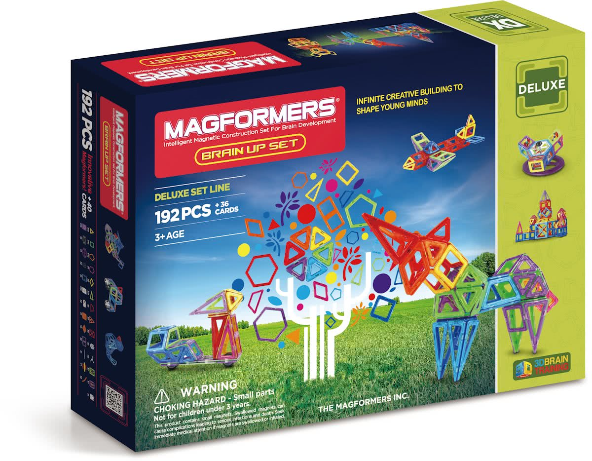 Magformers Deluxe Brain Up Set