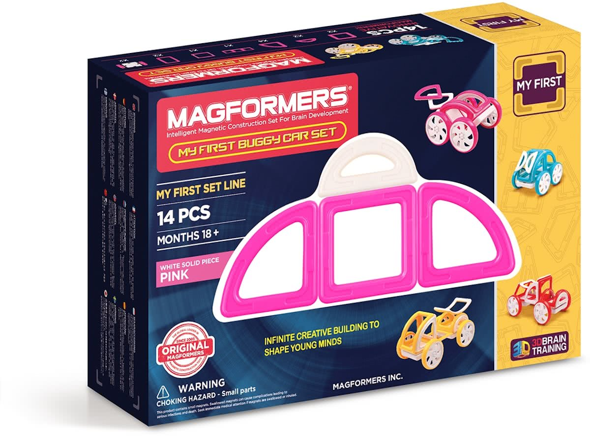 My First Buggy Car Set Pink 14P