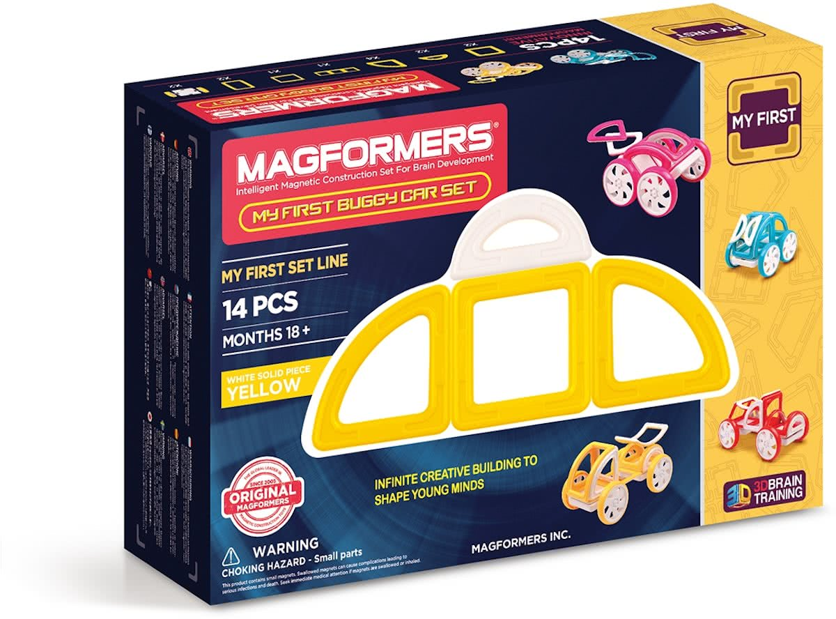My First Buggy Car Set Yellow 14P