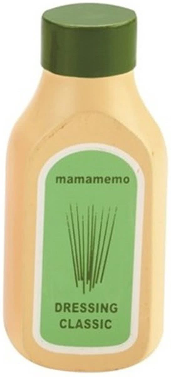 Mama Memo Fles Dressing Hout 10 Cm Wit/groen
