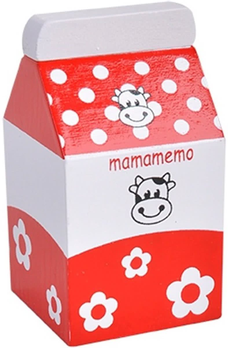 Mama Memo Room Hout 8 Cm Rood/wit