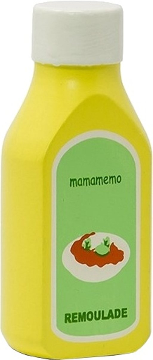 Mamamemo Remouladesaus Hout 10 Cm Geel