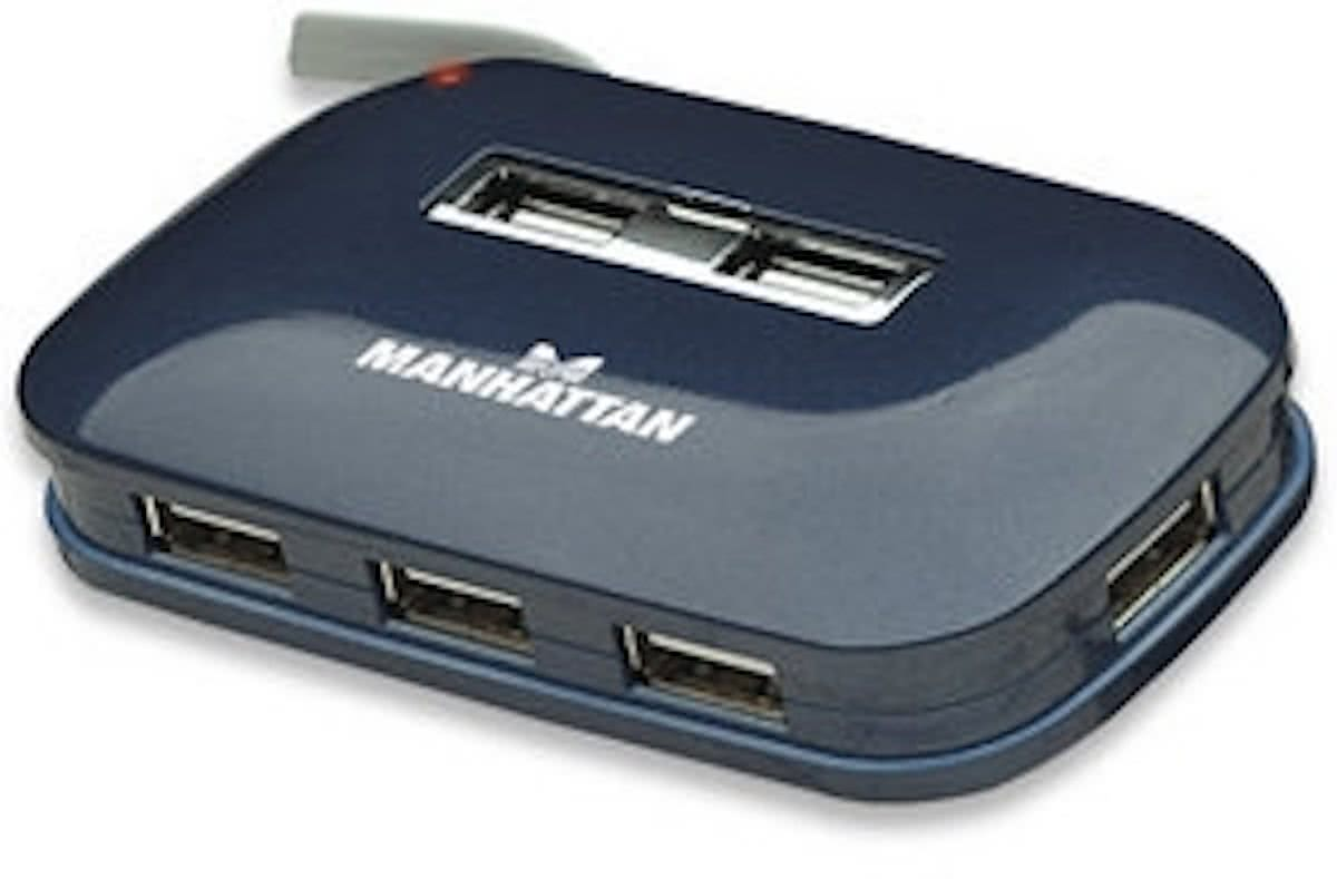 USB-HUB 7-Port   USB 2.0 Ultra   blauw