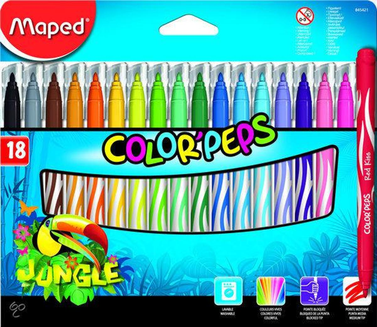 Colorpeps Jungle viltstiften - medium penpunt x 18