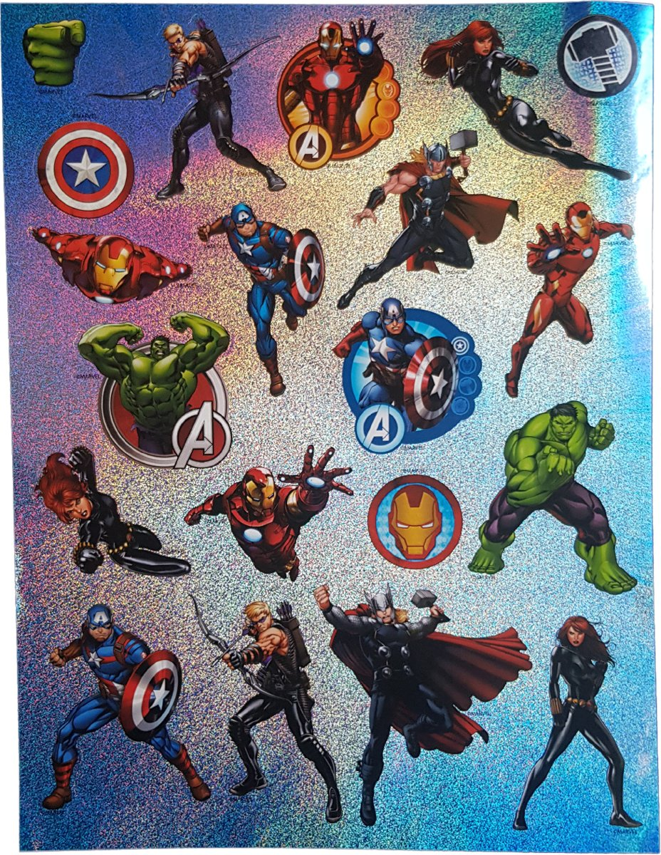 Glitter stickers Marvel's Avengers